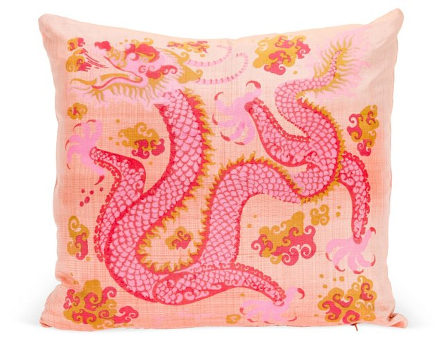 Jim Thompson Silk Dragon Pillow