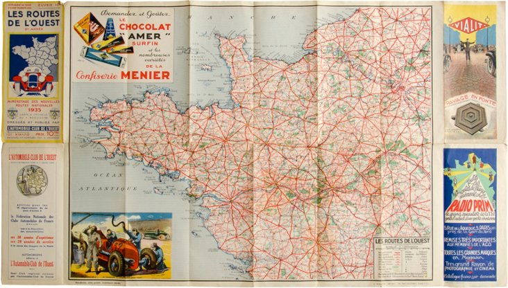 Vintage French Map