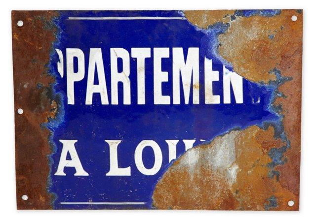 Vintage Sign, IV