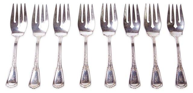 Reed & Barton Dessert Forks, S/8