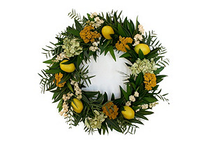 "18"" Lemon Wreath, Dried"