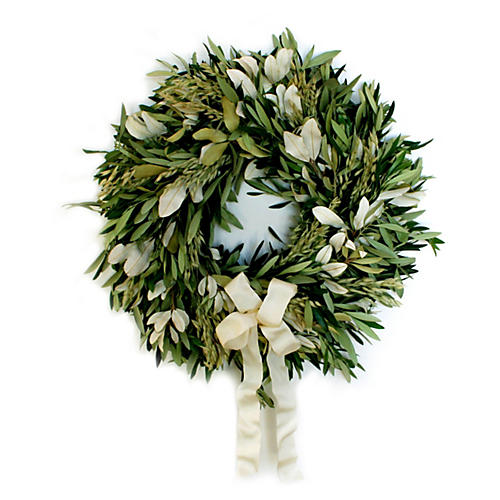 "20"" Olive & Integrefolia Wreath, Dried"
