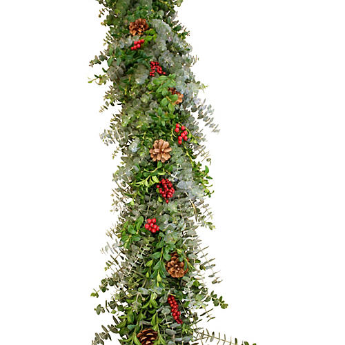 6' Winter Canella Garland, Live