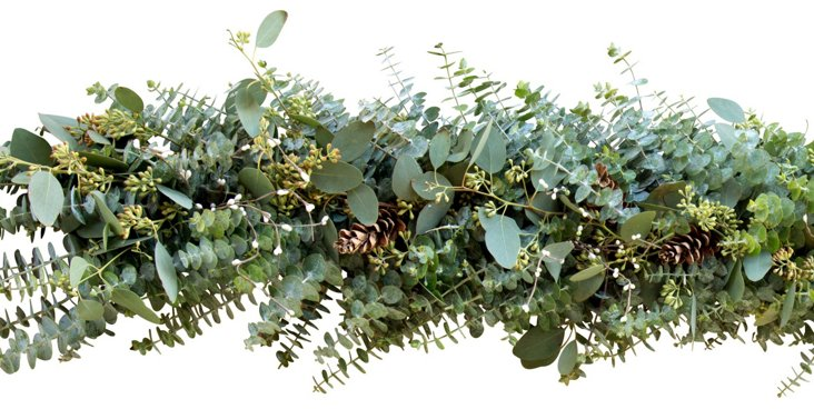 6' Winter Eucalyptus Garland, Dried