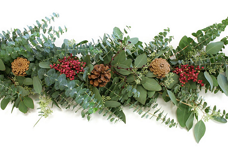 6' Eucalyptus & Pepper Berry Garland