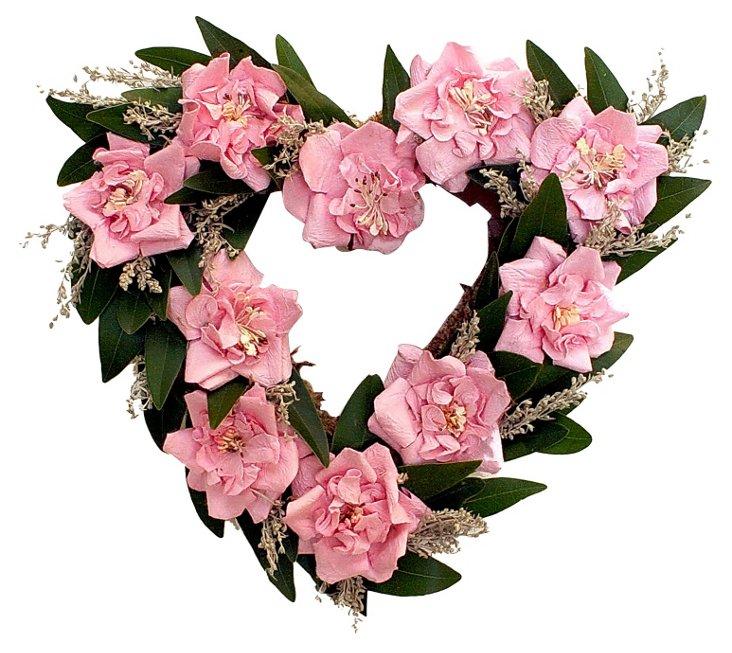 Sweet Heart Wreath, Pink