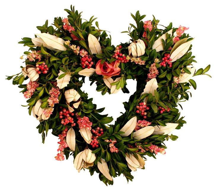 "13"" Victorian Heart Wreath"
