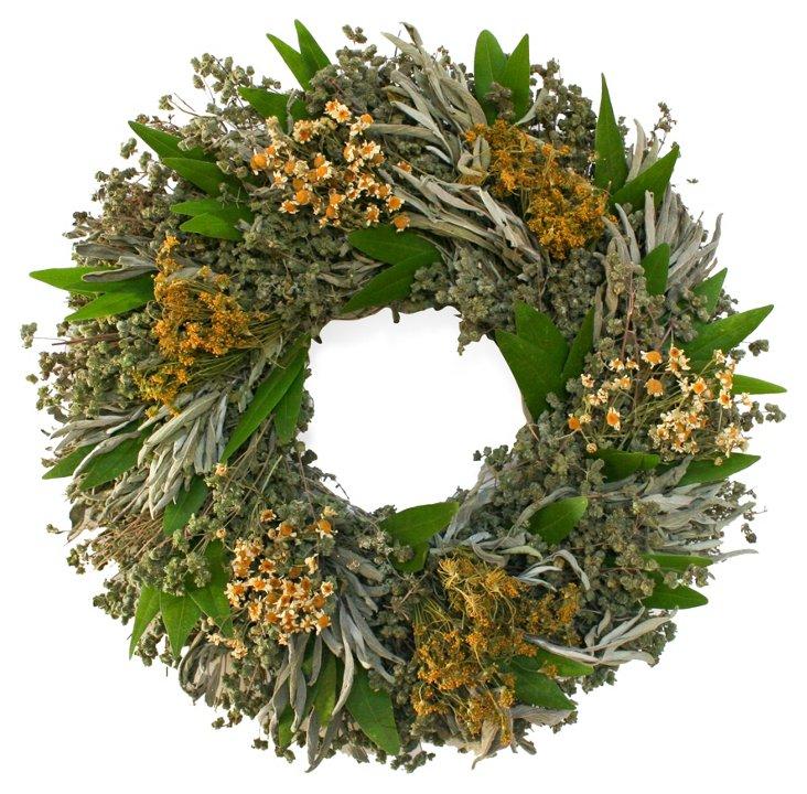 "15"" Herbal Wreath, Dried"