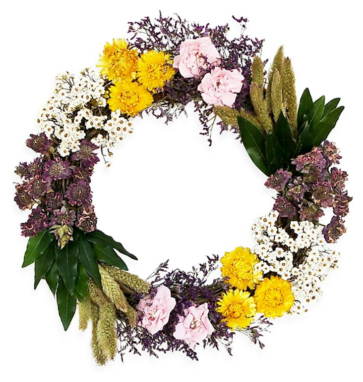 "18"" Spring Flowers Wreath"
