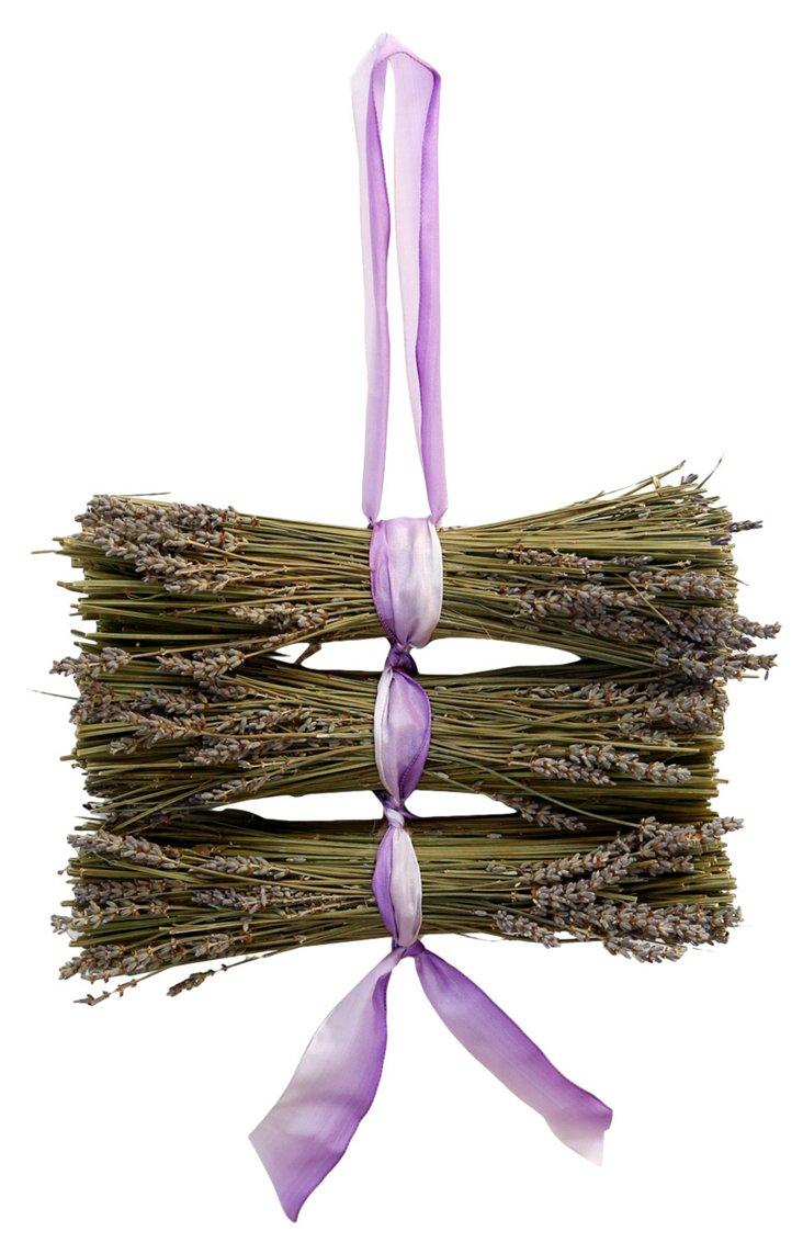 """18"""" Lavender Logs w/ Ribbon, Dried"""