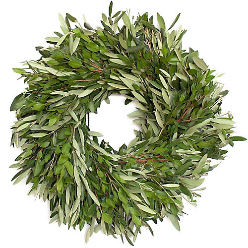 "18"" Olive Branch Live Wreath"