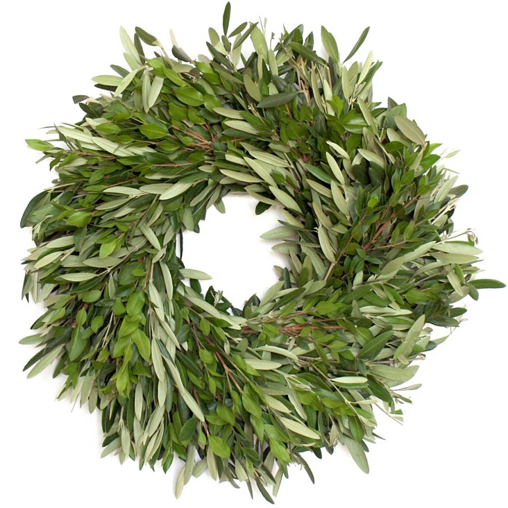 """18"""" Olive Branch Wreath, Dried"""