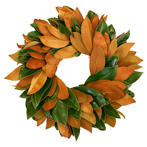 Magnolia Live Wreath