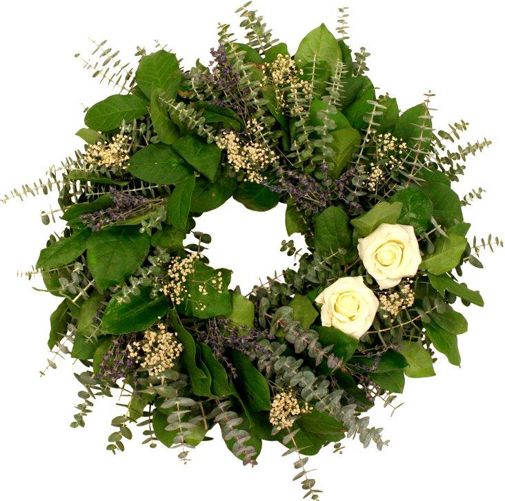 "20"" Rose & Lavender Wreath, Dried"