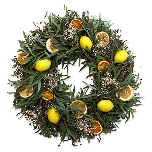 "18"" Citrus Wreath, Dried"