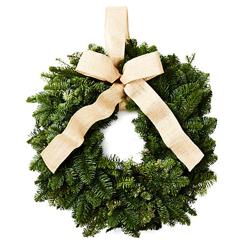 "22"" Fir-Ever Live Wreath"