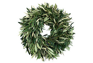 "20"" Olive & Eucalyptus Wreath, Dried"