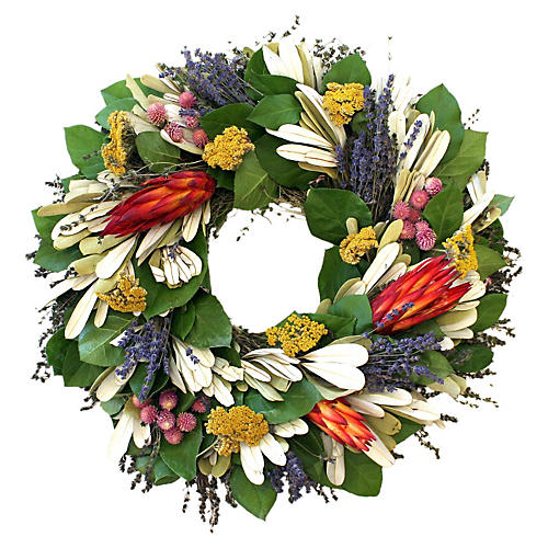 """20"""" Tropical Wreath, Dried"""