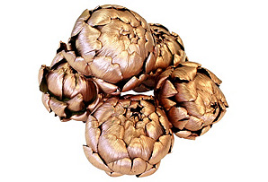 S/5 Dried Artichokes, Copper