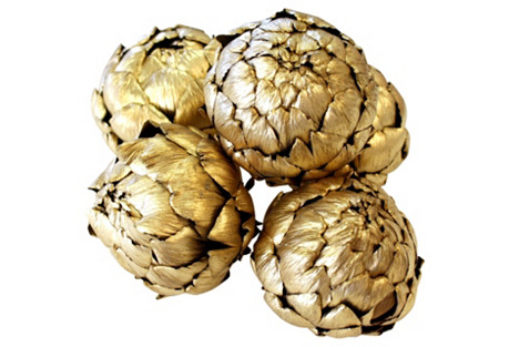 S/5 Dried Artichokes, Gold