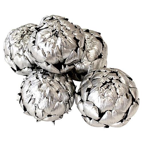 S/5 Dried Artichokes, Silver