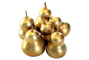 S/5 Dried Gourds, Gold
