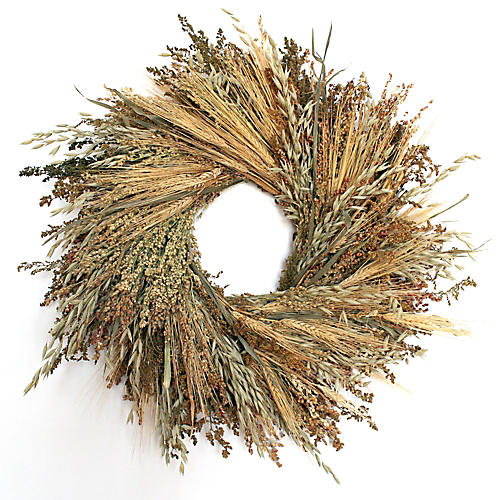 "20"" Grasslands Wreath, Dried"