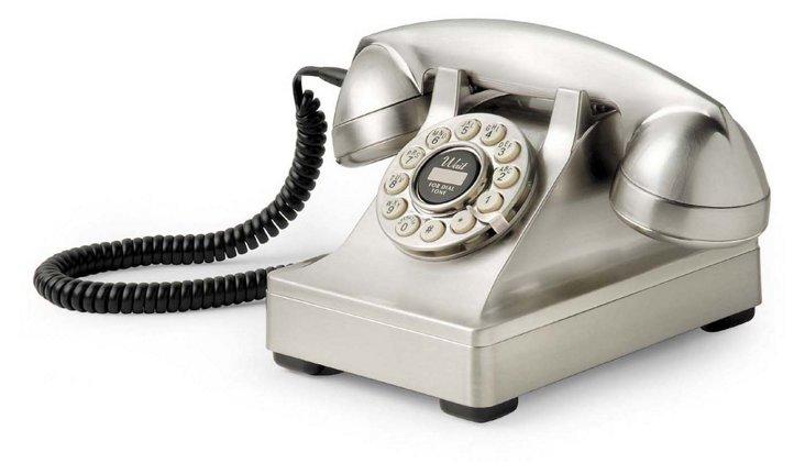 Kettle Desk Phone, Brushed Chrome