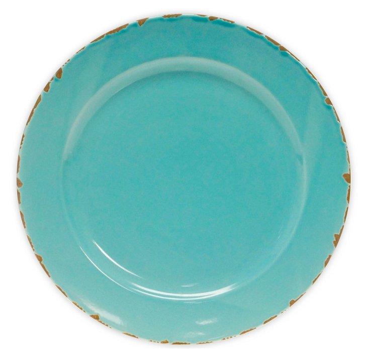 Ceramic Round Platter, Teal