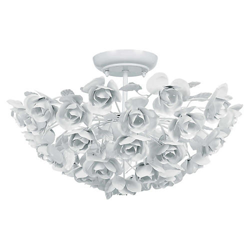 Milano 3-Light Semi-Flush Mount, White
