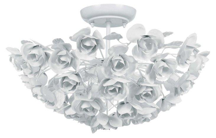Milano 3-Light Semi-Flush Mount, White