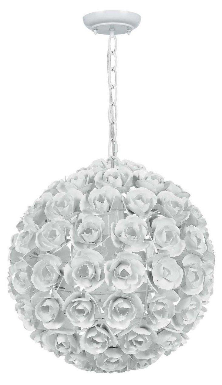 Milano 1-Light Pendant, White