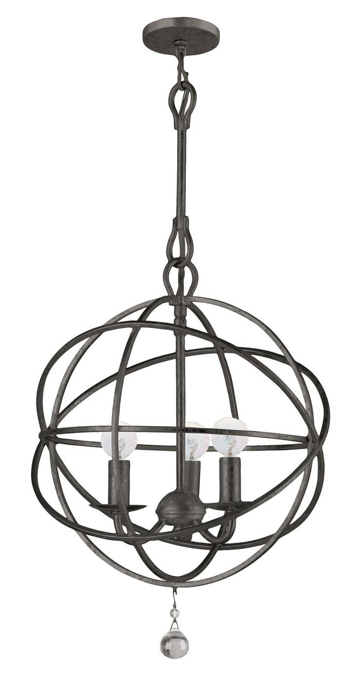 Stella 3-Light Chandelier, Bronze
