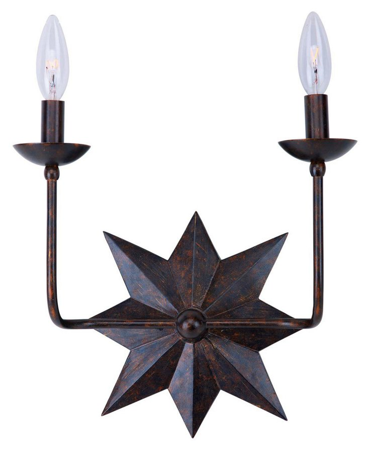 Molly 2-Light Wall Sconce, Bronze