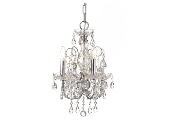 Imperial 4-Light Mini Chandelier, Chrome