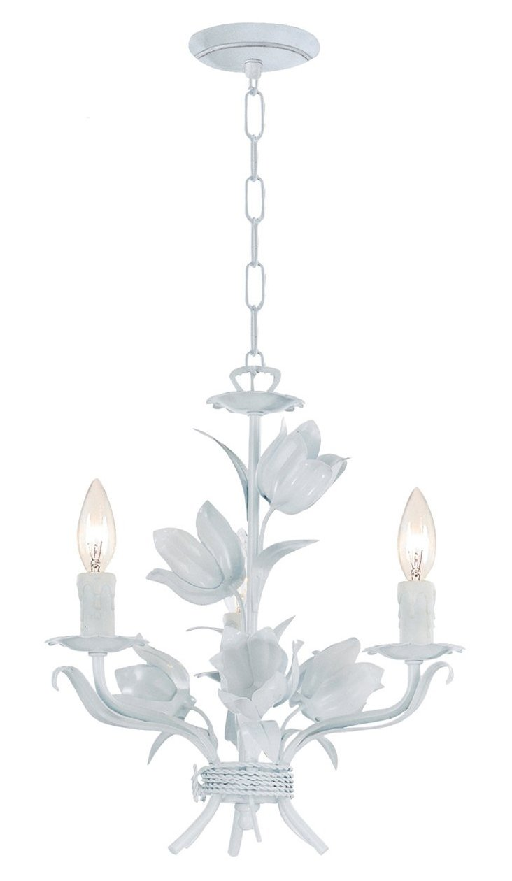 Amour 3-Light Chandelier, White