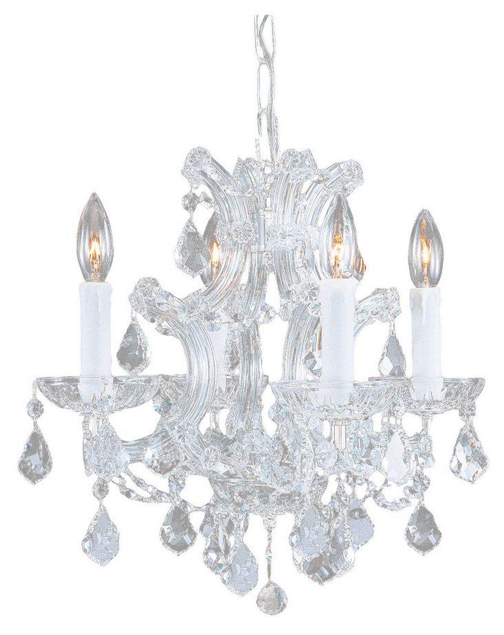 Maria Theresa 4-Light Chandelier, Chrome