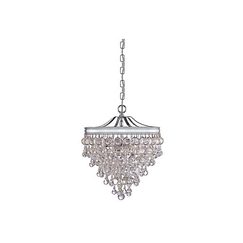Calypso 3-Light Pendant, Chrome