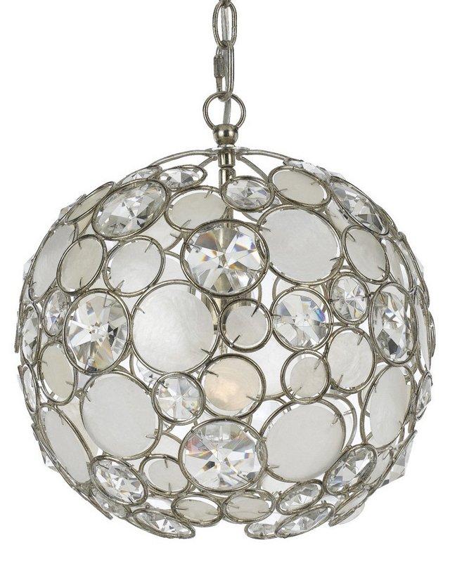 Laurel Pendant, Antique Silver