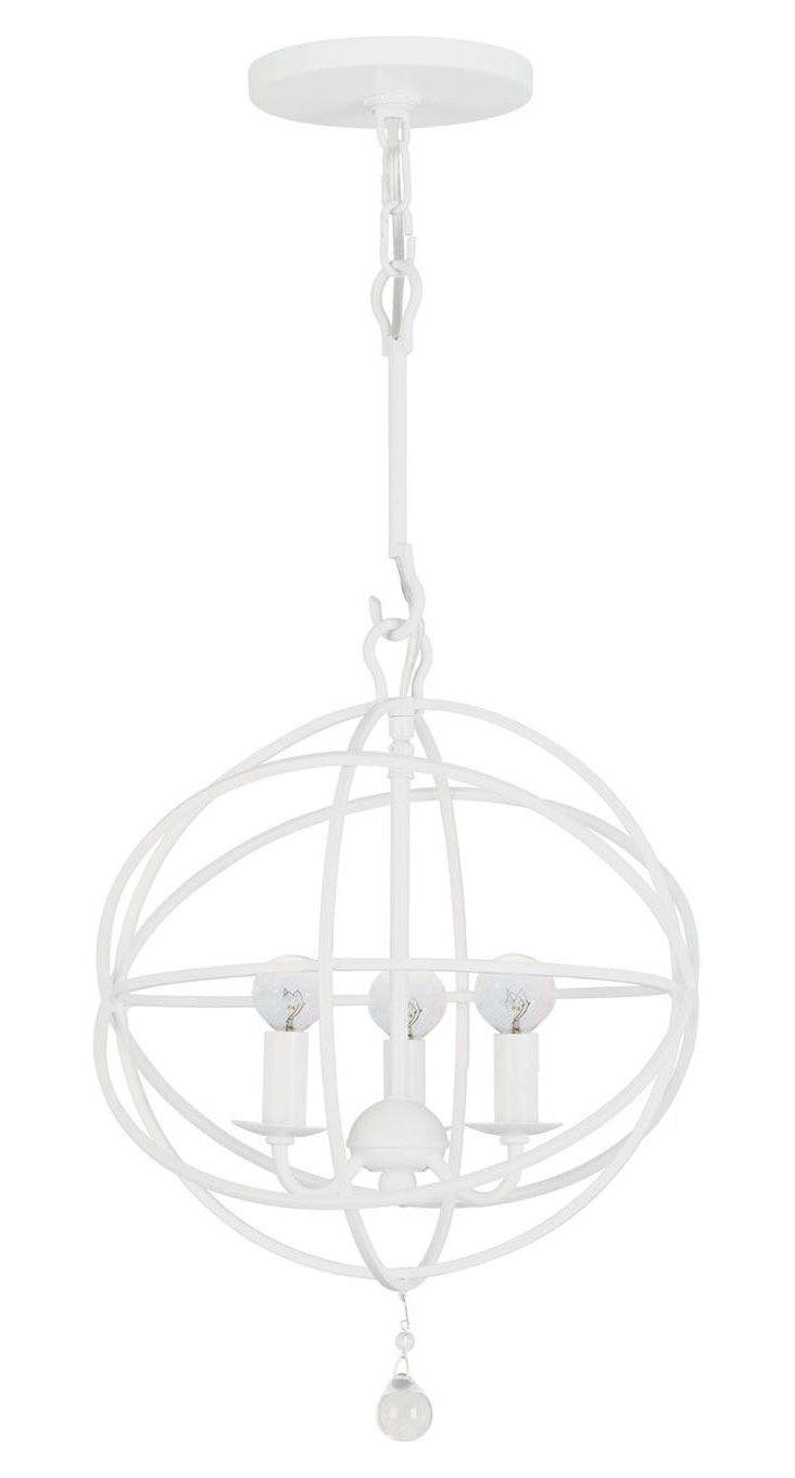 Stella 3-Light Chandelier, White