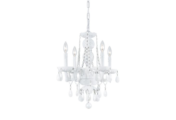 Carrera 4-Light Chandelier, White
