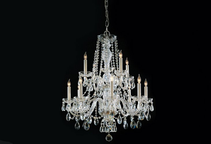 Romie 12-Light Chandelier, Chrome