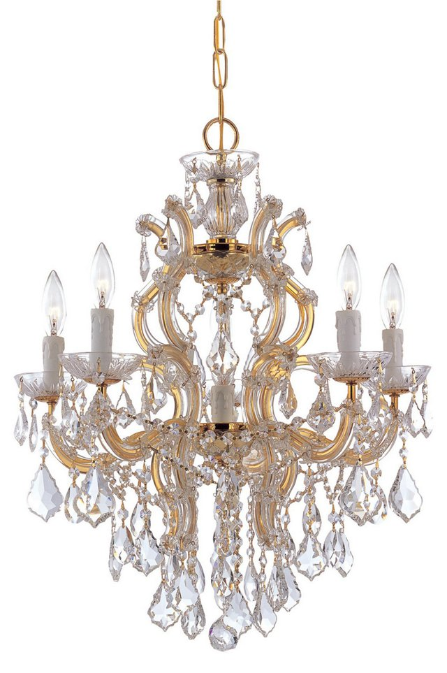 Melrose 4-Light Chandelier, Gold
