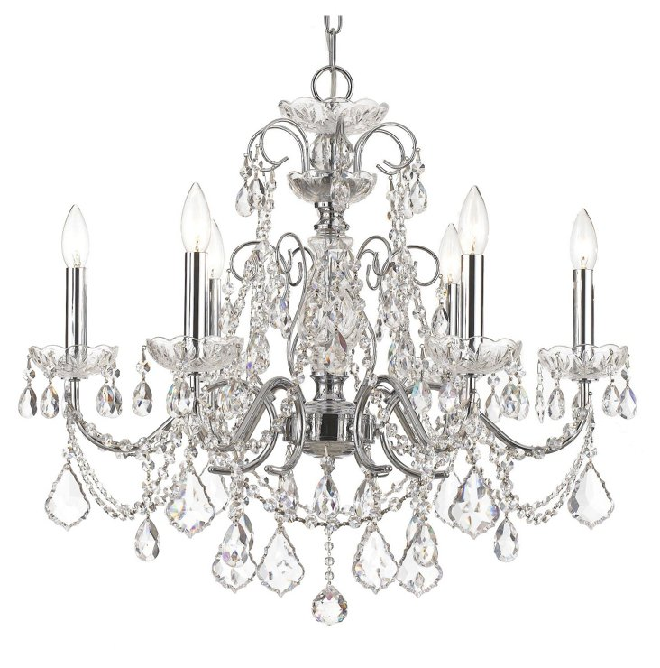 Imperial 6-Light Chandelier, Chrome