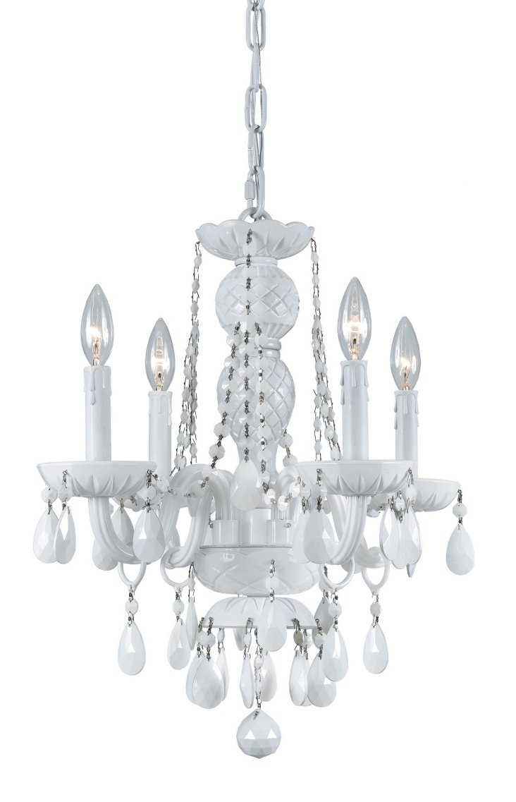 Vogue 4-Light Chandelier, White