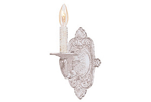 Paris 1-Light Wall Sconce, White