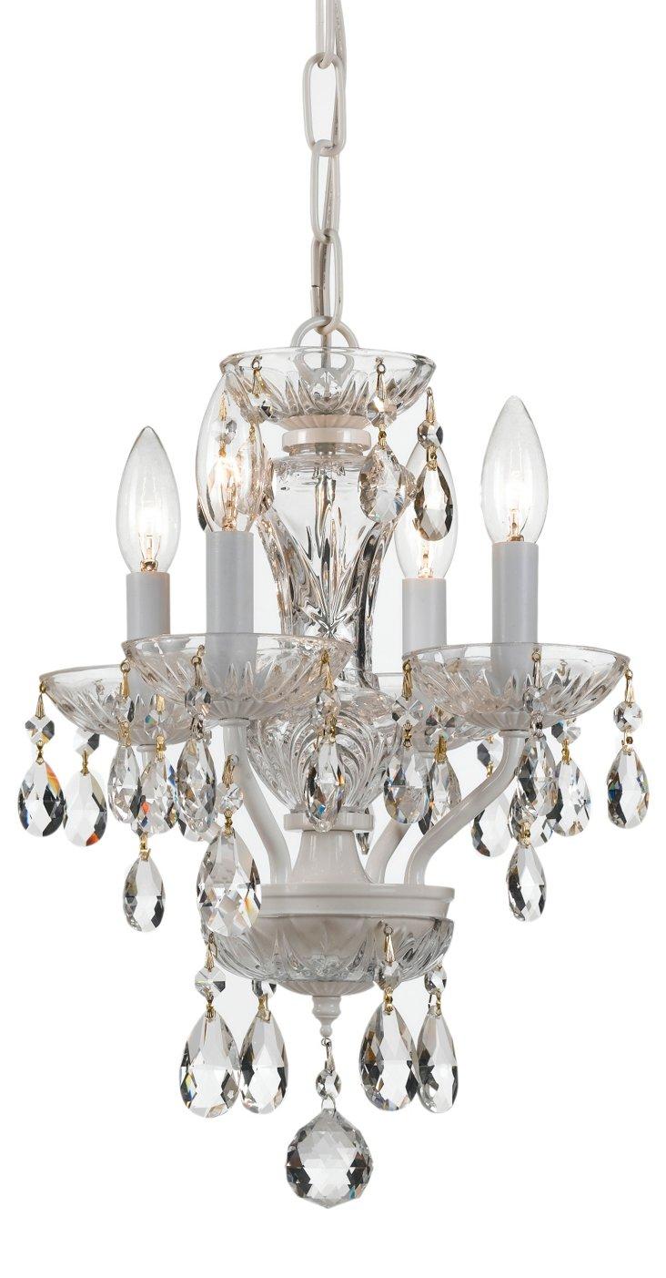 Victoria 4-Light Chandelier, White