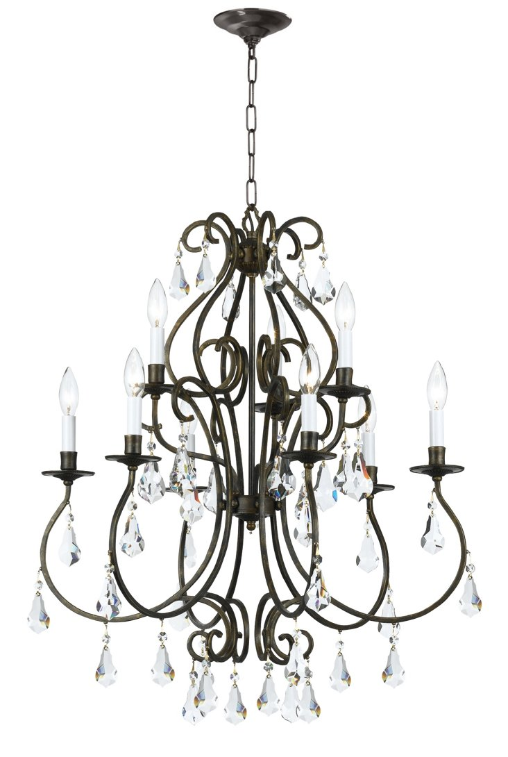 Ashton 6-Light Chandelier, Bronze
