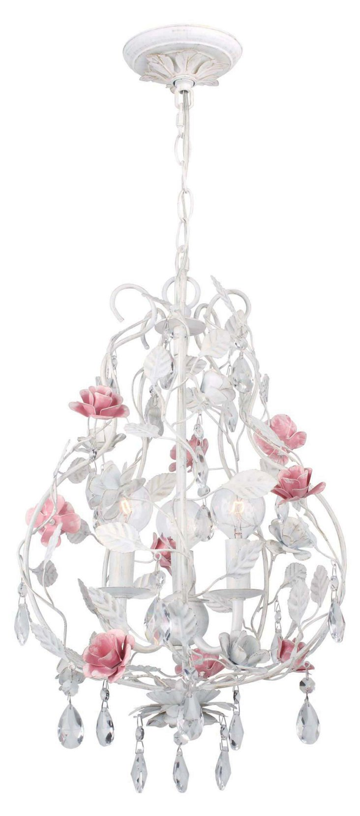 Lola 3-Light Chandelier, White