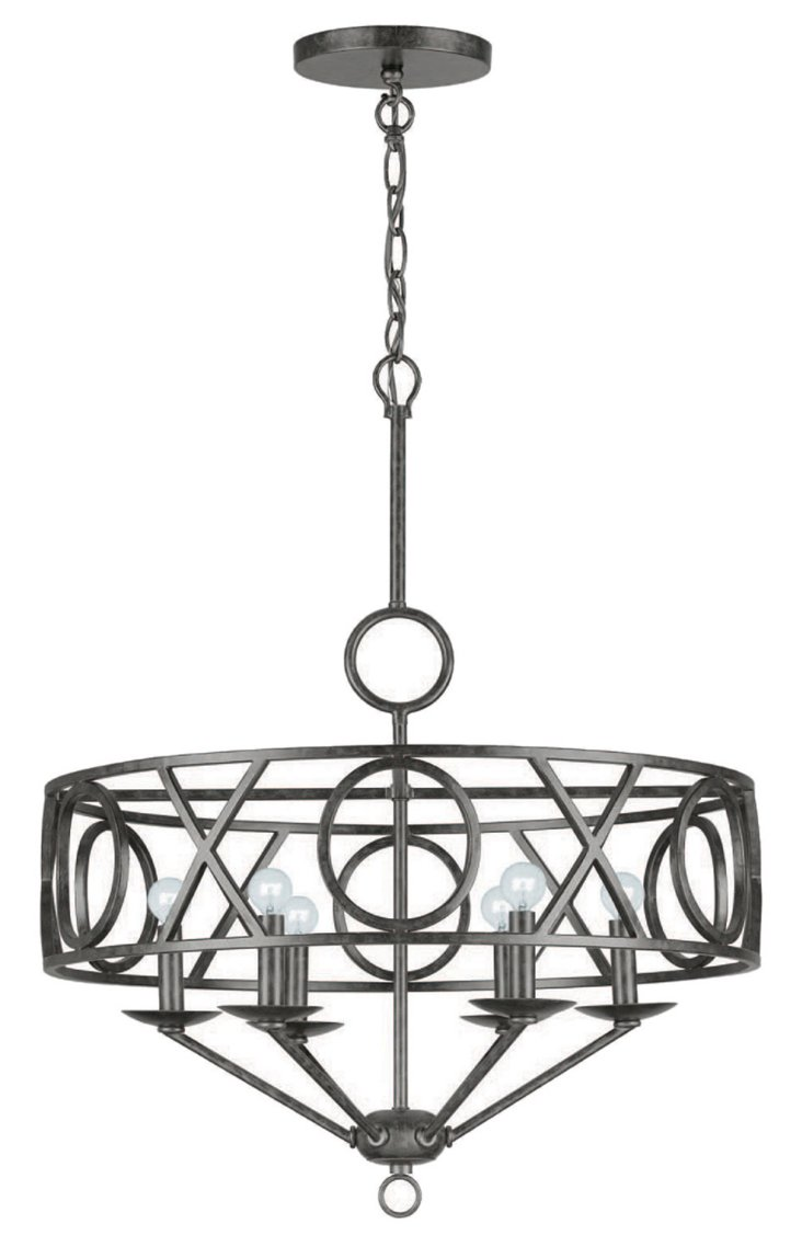 Celestial 6-Light Chandelier, Bronze